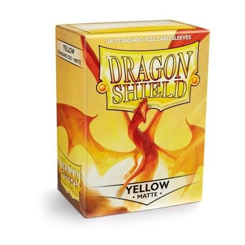 Protector de cartas Dragon Shield 100 - Standard Matte Yellow